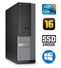 Dell 3020 SFF i3-4130 16GB 240SSD DVDRW WIN10Pro hind ja info | Lauaarvutid | kaup24.ee