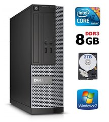 Lauaarvuti Dell 3020 SFF i3-4130 8GB 2TB DVDRW WIN7Pro