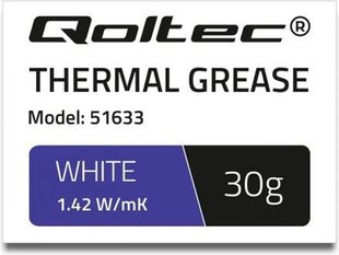 Qoltec Thermal grease 1.42 W / m-K | 30g | White (51633)
