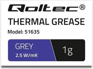 Qoltec Thermal grease 2.5 W / m-K | 1g Gray (51635)