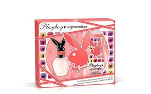 Komplekt Playboy Generation For Her: EDT naistele 30 ml + dušigeel 250 ml