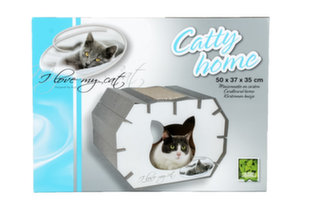 Kokkupandav kartongist maja kassidele Riga I Love My Cat, 50x37x35 cm