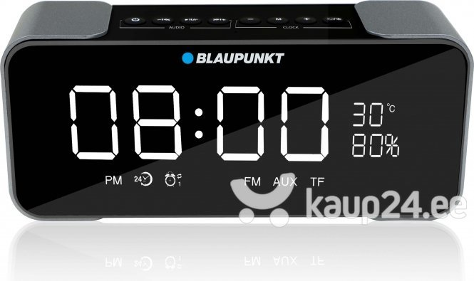 Kaasaskantav kõlar Blaupunkt BT16CLOCK Bluetooth, must/hall hind