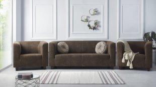 Pehme mööbli komplekt 3+1+1 BoboChic Django IV, helepruun