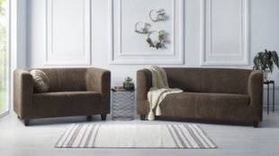 Pehme mööbli komplekt 2+3 BoboChic Django II, pruun