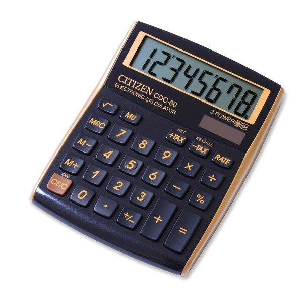 Kalkulaator Citize0n CDC 80WB, must/kuldne
