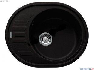 Kivimassist köögivalamu Franke Rog 611-62 must, ekstsentriline ventiil hind ja info | Kivimassist köögivalamu Franke Rog 611-62 must, ekstsentriline ventiil | kaup24.ee