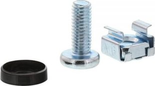 InLine Cage Nut Set M6 20 Cage Nuts + 20 Washers + 20 Screws (01950A)