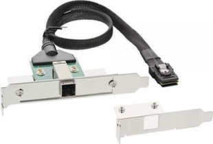 InLine SAS HD Bracket with Cable ext. SFF-8644 to int. SFF-8087 0.5m (27658B)