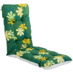 Lamamistooli padi Patio Malaga Plus, roheline/värviline hind ja info | Lamamistooli padi Patio Malaga Plus, roheline/värviline | kaup24.ee