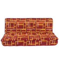 Istumispatjade komplekt aiakiigele Patio Latina, punane/värviline