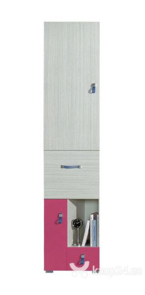 Riiul Komi 3, hall/roosa