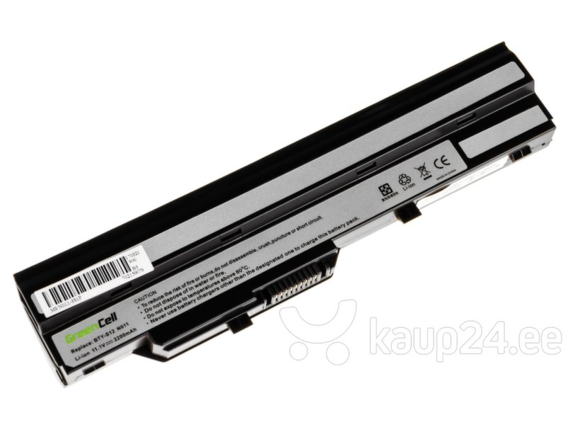 Sülearvuti aku Green Cell Laptop Battery for MSI Wind U90 U100 U110 U120 U130 U135 U135DX U200 U250 U270 hind
