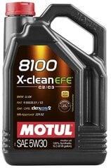 Õli Motul 8100 X-Clean Efe C2/C3 Sünteetiline, 5W30, 5L