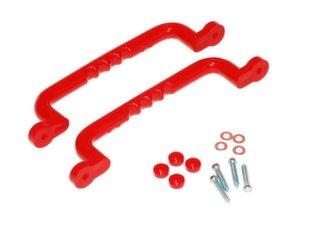 Plastikust käepidemete komplekt 310x70 (punane) 4IQ hind ja info | Laste mängumajad | kaup24.ee