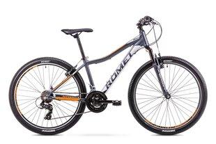 """Женский горный велосипед Romet Rambler R6.0 JR 26"""" 2019, серый/оранжевый"""
