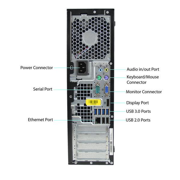 HP 8300 Elite SFF i5-3470 32GB 500GB DVDRW WIN7Pro