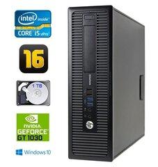 HP 800 G1 SFF I5-4570 16GB 1TB GT1030 2GB DVD WIN10Pro hind ja info | Lauaarvutid | kaup24.ee