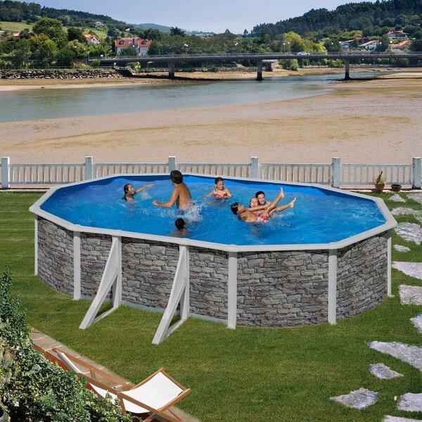 Ovaalse karkassiga bassein Gre Cerdeña koos liivafiltriga, 500x300x120 cm