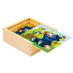 Puidust pusle komplekt Bino, Karu maasikatega hind ja info | Imikute mänguasjad | kaup24.ee