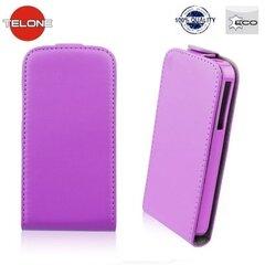 Kaitseümbris Telone Flexi Slim Flip LG L90 D405, Lilla hind ja info | Mobiili ümbrised, kaaned | kaup24.ee