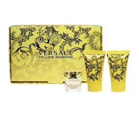 Komplekt Versace Yellow Diamond: EDT naistele 5 ml + kehaemulsjoon 25 ml + dušigeel 25 ml