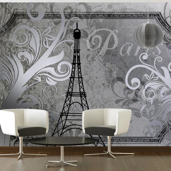 Fototapeet - Vintage Paris - silver