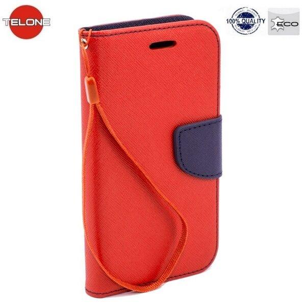 Kaitseümbris Telone Fancy Diary Bookstand Sony Xperia M2, Punane tagasiside