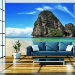 Fototapeet - Exotic landscape in Thailand, Railay beach