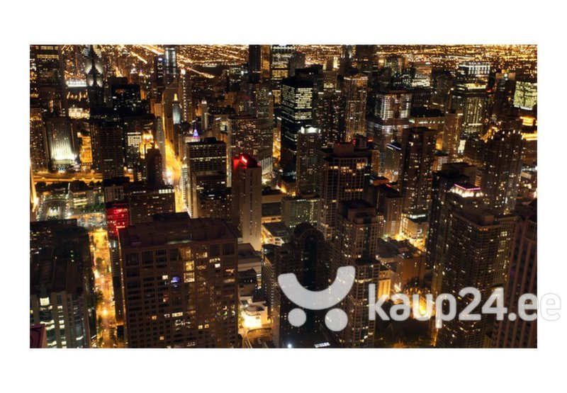 Fototapeet - City by night - Chicago, USA hind