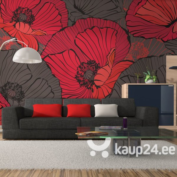 Fototapeet - Pleated poppies