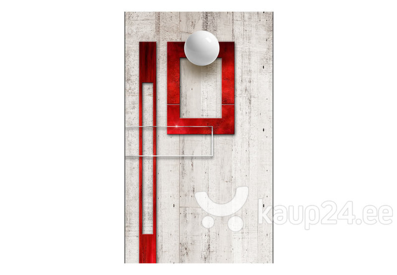 Fototapeet - Concrete, red frames and white knobs hind