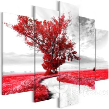 Maal - Tree near the Road (5 Parts) Red