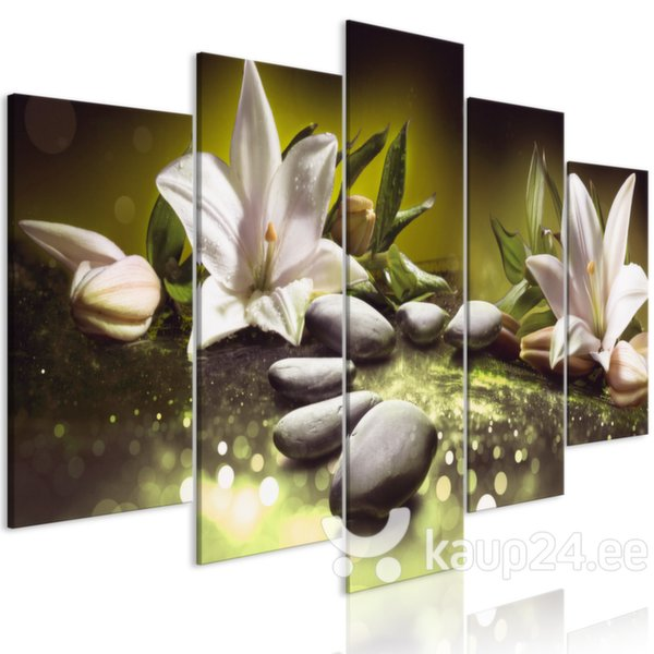 Maal - Lilies and Stones (5 Parts) Wide Green