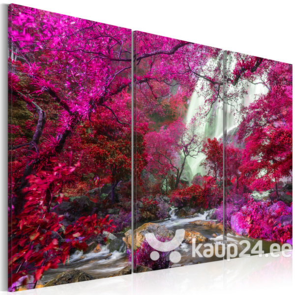 Maal - Beautiful Waterfall: Pink Forest