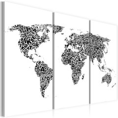 Maal - The World map - alphabet - triptych