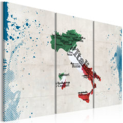 Maal - Map of Italy - triptych