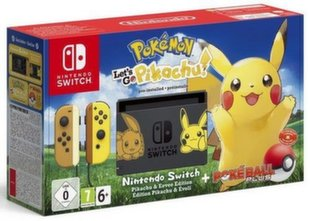 Mängukonsool Nintendo Switch + mängud Pokemon Let's Go Pikachu + Poke Ball