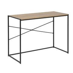 Письменный стол Seaford, цвет дуба/черный