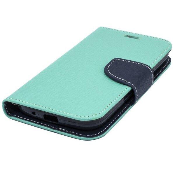 Kaitseümbris Telone Fancy Diary Bookstand sobib LG F60 D390, Helesinine tagasiside