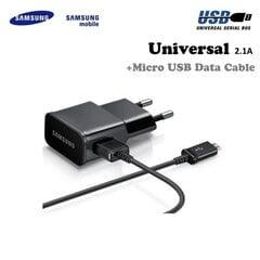 Laadija Samsung ETA-U90EB 2A + ECC1DU4BBE Micro USB juhe hind ja info | Laadija Samsung ETA-U90EB 2A + ECC1DU4BBE Micro USB juhe | kaup24.ee