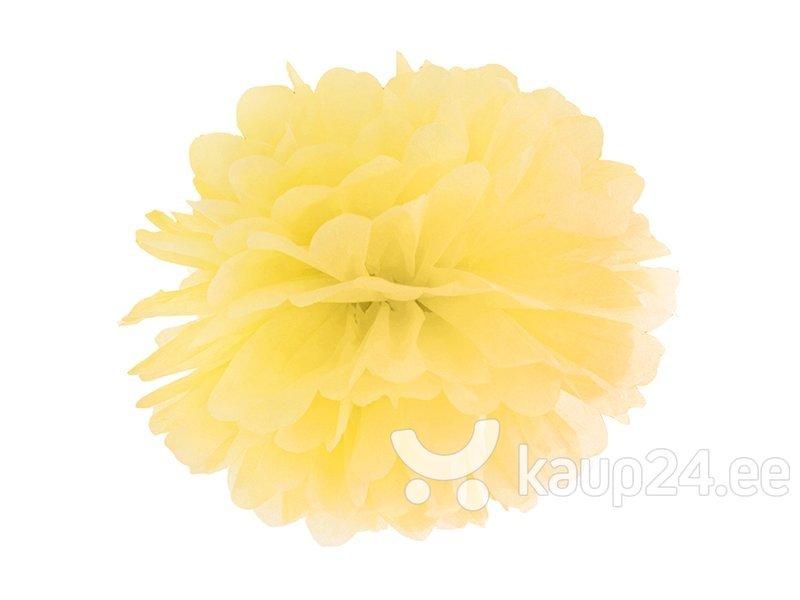 Paberist pom pom, kollane, 35 cm