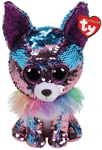 Plüüsist mänguasi TY Flippables YAPPY läikiv koer, 40 cm, 36764