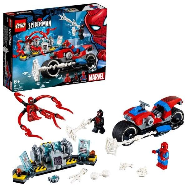 76113 LEGO® Marvel Super Heroes Spider-Man mootorratas Internetist