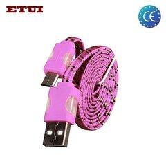 Kaabel Etui Flat USB - Micro USB, roosa