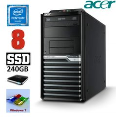 Lauaarvuti Acer Veriton M4620G MT G645 8GB 240GB+1TB DVD WIN7Pro