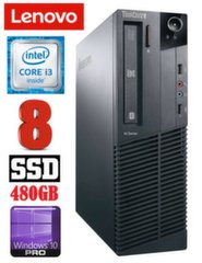 Lauaarvuti Lenovo ThinkCentre M82 SFF i3-3220 8GB 480SSD DVD WIN10Pro