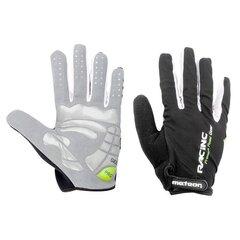 Зимние велосипедные перчатки Meteor Racing, серые/черные