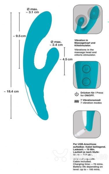 Vibraator Javida kliitori stimulaatoriga soodsam