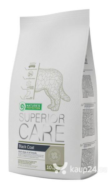 Kuivtoit Nature's Protection Superior Care Black Coat Dog Adult All Breed musta karvaga koertele, 10kg